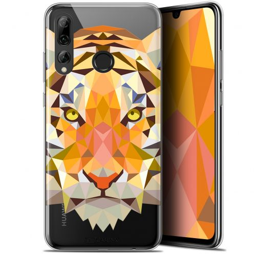 "Coque Gel Huawei P Smart+ / Plus 2019 (6.2"") Extra Fine Polygon Animals - Tigre"