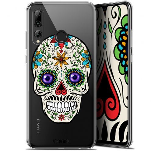 "Coque Gel Huawei P Smart+ / Plus 2019 (6.2"") Extra Fine Skull - Maria's Flower"