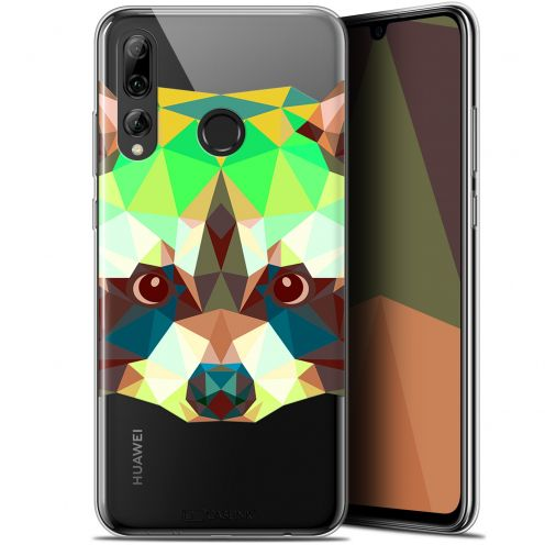 "Coque Gel Huawei P Smart+ / Plus 2019 (6.2"") Extra Fine Polygon Animals - Raton Laveur"