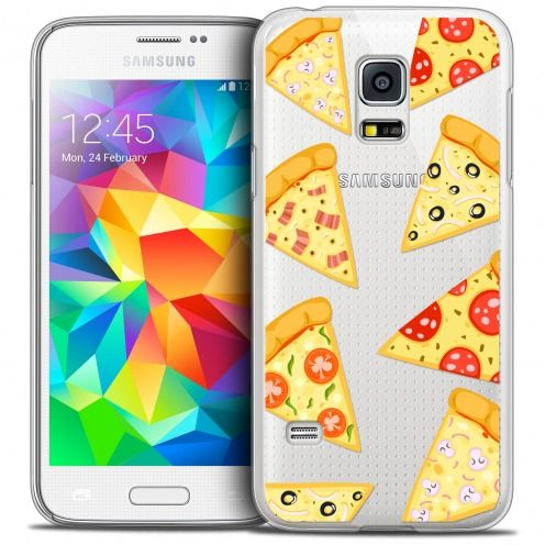 Coque Crystal Galaxy S5 Mini Extra Fine Foodie - Pizza