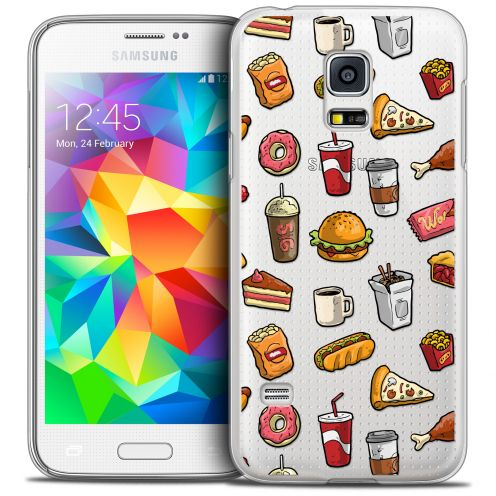 Coque Crystal Galaxy S5 Mini Extra Fine Foodie - Fast Food