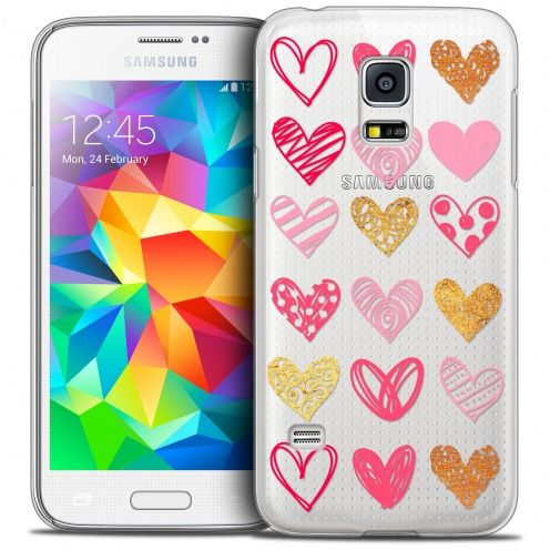 Coque Crystal Galaxy S5 Mini Extra Fine Sweetie - Doodling Hearts