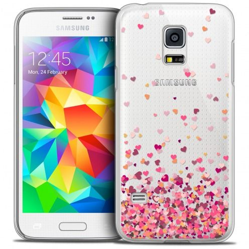 Coque Crystal Galaxy S5 Mini Extra Fine Sweetie - Heart Flakes