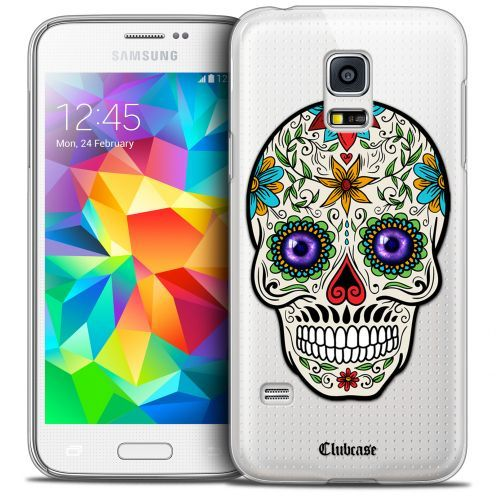 Coque Crystal Galaxy S5 Mini Extra Fine Skull - Maria's Flower