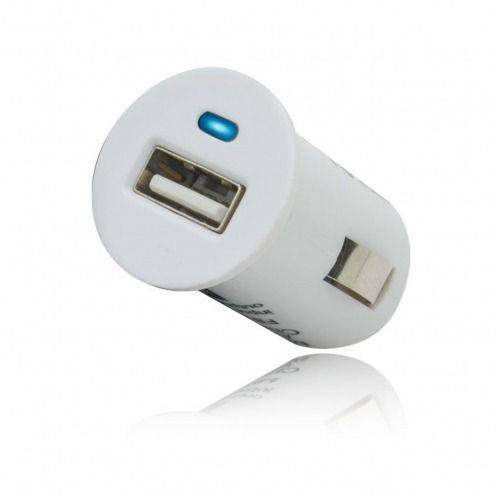 Micro chargeur voiture / Allume cigare USB Blanc