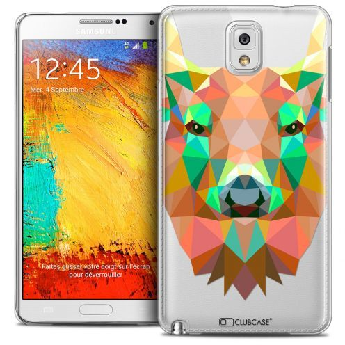 Coque Crystal Galaxy Note 3 Extra Fine Polygon Animals - Cerf