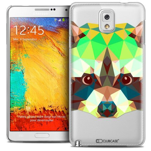 Coque Crystal Galaxy Note 3 Extra Fine Polygon Animals - Raton Laveur