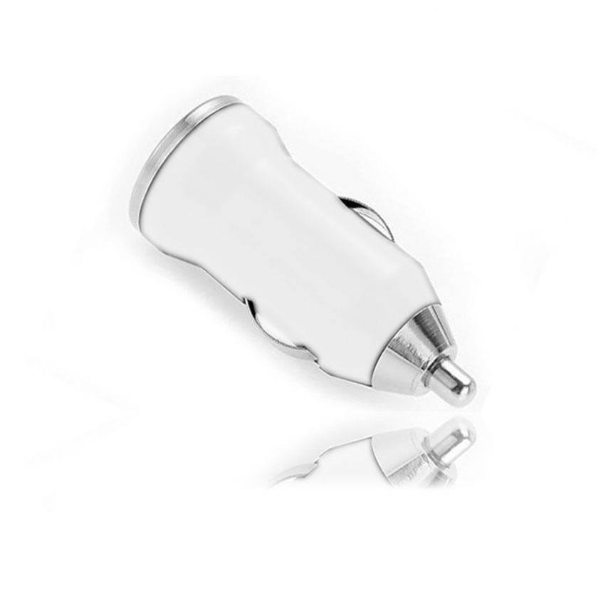 Visuel unique de Mini chargeur voiture / Allume cigare USB Blanc