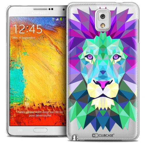 Coque Crystal Galaxy Note 3 Extra Fine Polygon Animals - Lion