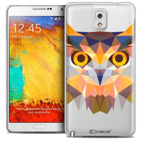 Coque Crystal Galaxy Note 3 Extra Fine Polygon Animals - Hibou