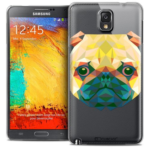 Coque Crystal Galaxy Note 3 Extra Fine Polygon Animals - Chien