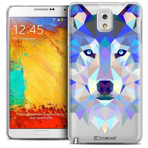 Coque Crystal Galaxy Note 3 Extra Fine Polygon Animals - Loup