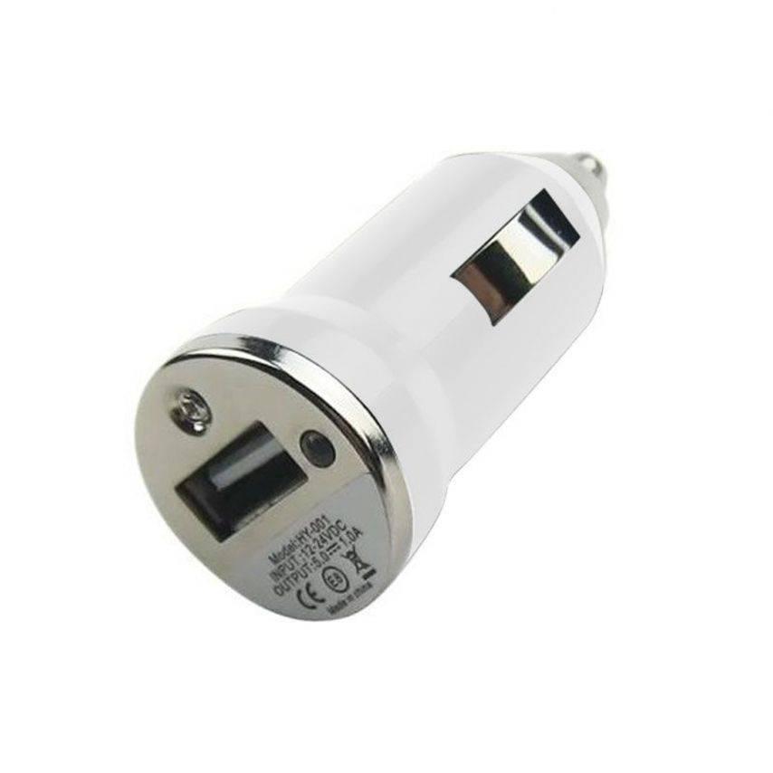 Visuel supplémentaire de Mini chargeur voiture / Allume cigare USB Blanc