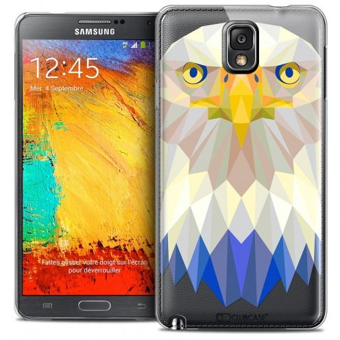 Coque Crystal Galaxy Note 3 Extra Fine Polygon Animals - Aigle