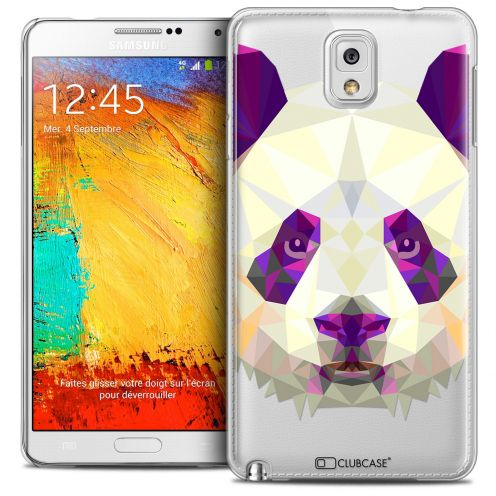 Coque Crystal Galaxy Note 3 Extra Fine Polygon Animals - Panda