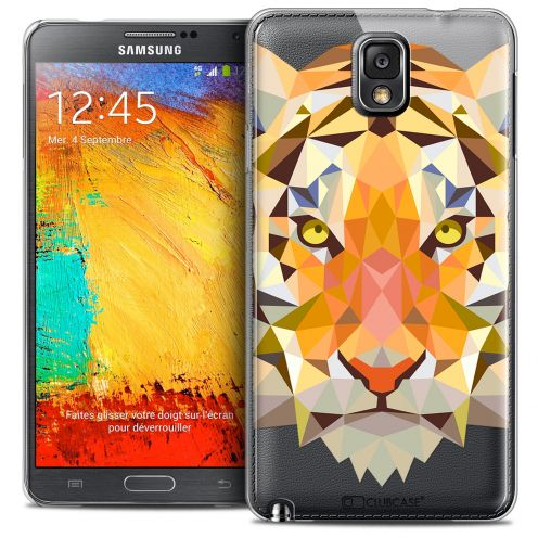 Coque Crystal Galaxy Note 3 Extra Fine Polygon Animals - Tigre
