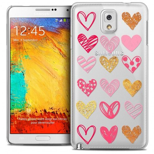 Coque Crystal Galaxy Note 3 Extra Fine Sweetie - Doodling Hearts