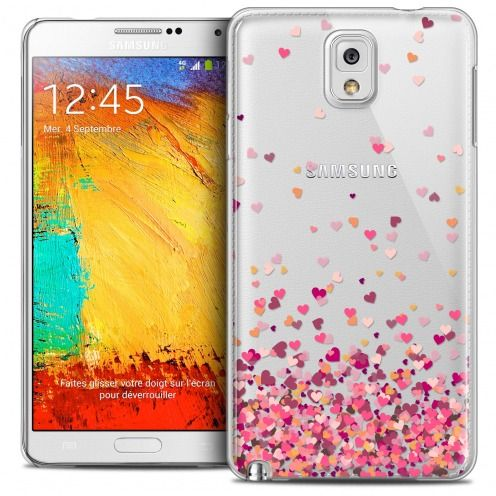 Coque Crystal Galaxy Note 3 Extra Fine Sweetie - Heart Flakes