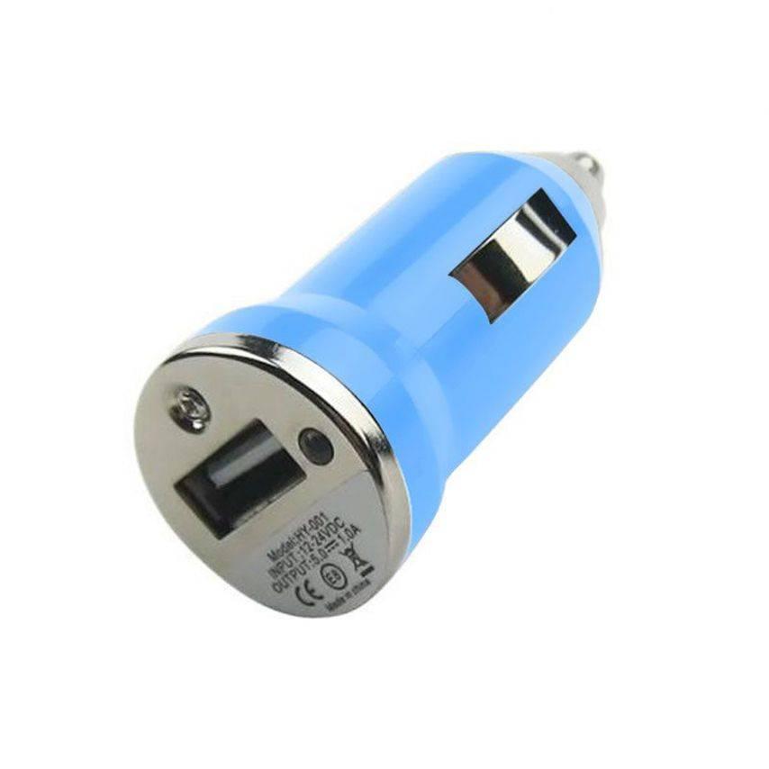 Visuel supplémentaire de Mini chargeur voiture / Allume cigare USB Bleu
