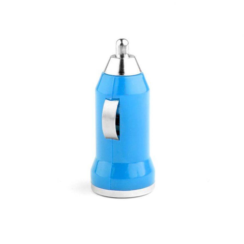 Vue complémentaire de Mini chargeur voiture / Allume cigare USB Bleu