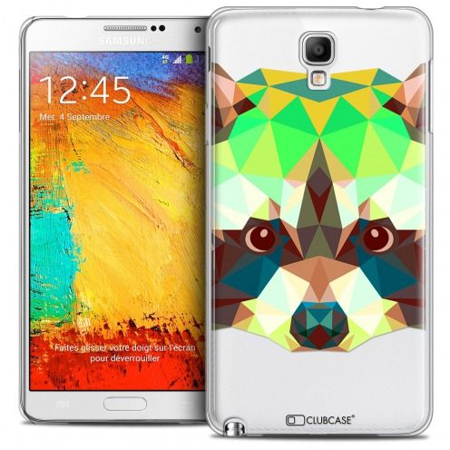 Coque Crystal Galaxy Note 3 Neo/Mini Extra Fine Polygon Animals - Raton Laveur