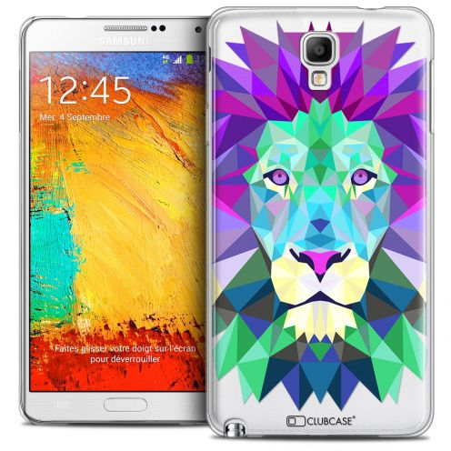 Coque Crystal Galaxy Note 3 Neo/Mini Extra Fine Polygon Animals - Lion