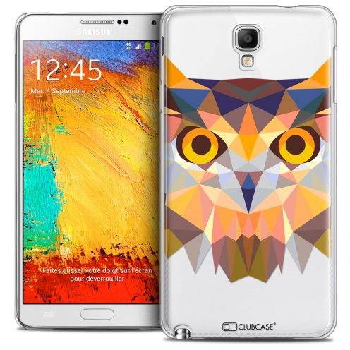Coque Crystal Galaxy Note 3 Neo/Mini Extra Fine Polygon Animals - Hibou
