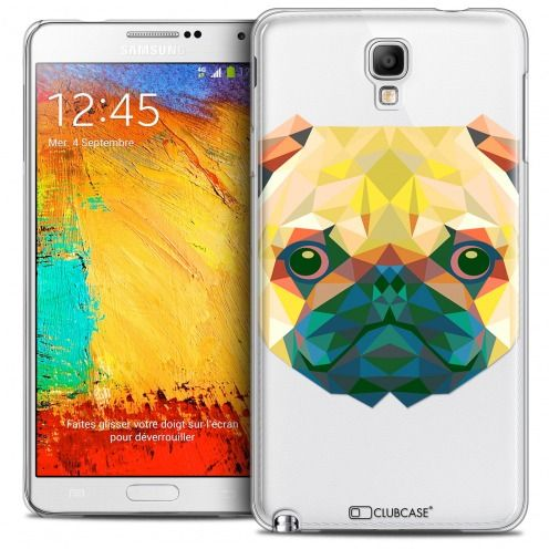 Coque Crystal Galaxy Note 3 Neo/Mini Extra Fine Polygon Animals - Chien