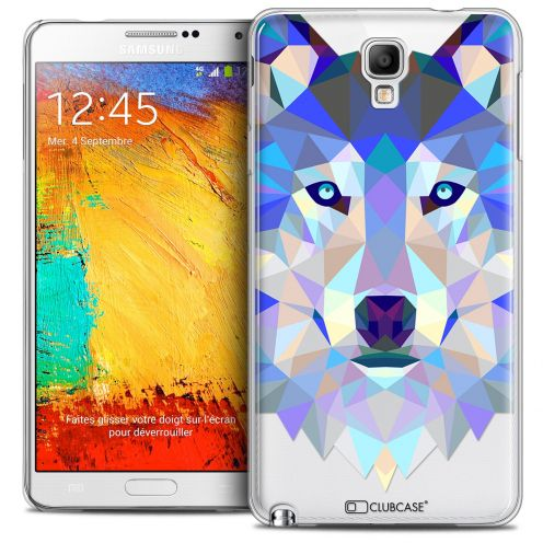 Coque Crystal Galaxy Note 3 Neo/Mini Extra Fine Polygon Animals - Loup