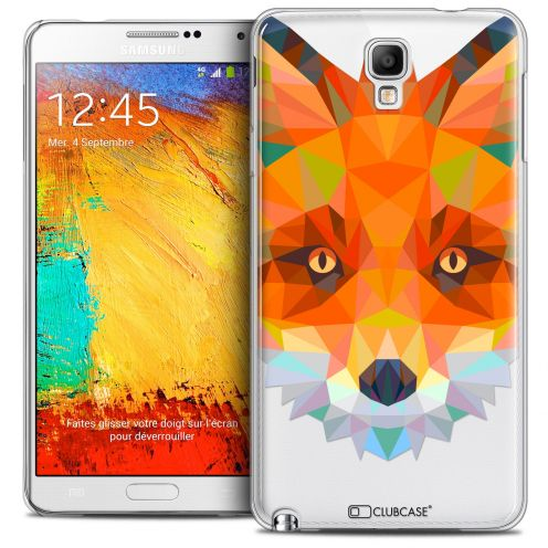 Coque Crystal Galaxy Note 3 Neo/Mini Extra Fine Polygon Animals - Renard