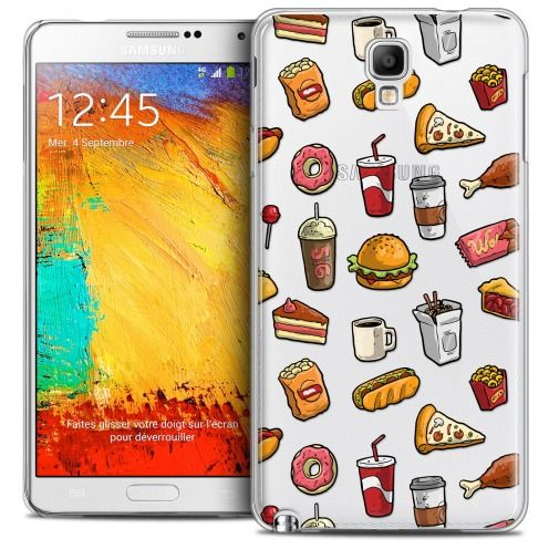 Coque Crystal Galaxy Note 3 Neo/Mini Extra Fine Foodie - Fast Food