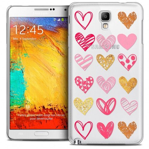 Coque Crystal Galaxy Note 3 Neo/Mini Extra Fine Sweetie - Doodling Hearts