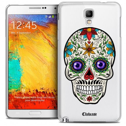 Coque Crystal Galaxy Note 3 Neo/Mini Extra Fine Skull - Maria's Flower