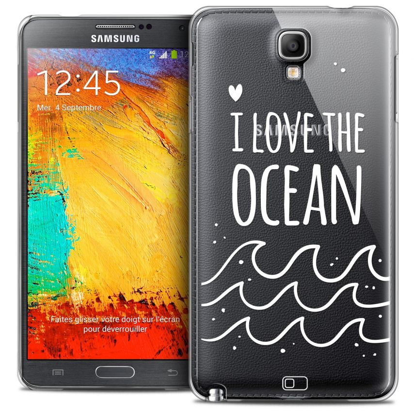 coque crystal galaxy note 3 neo lite extra fine design made in france i love ocean. Black Bedroom Furniture Sets. Home Design Ideas