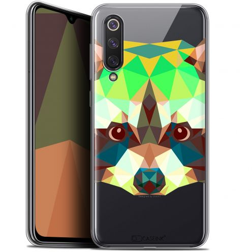 "Coque Gel Xiaomi Mi 9 SE (5.97"") Extra Fine Polygon Animals - Raton Laveur"
