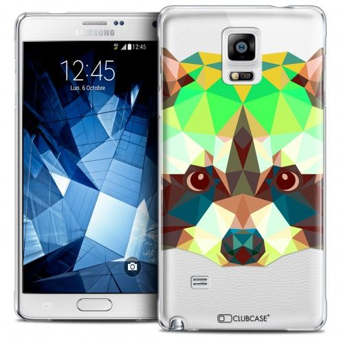 Coque Crystal Galaxy Note 4 Extra Fine Polygon Animals - Raton Laveur
