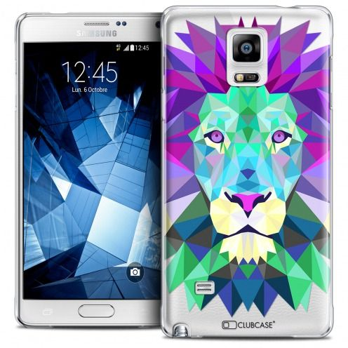 Coque Crystal Galaxy Note 4 Extra Fine Polygon Animals - Lion
