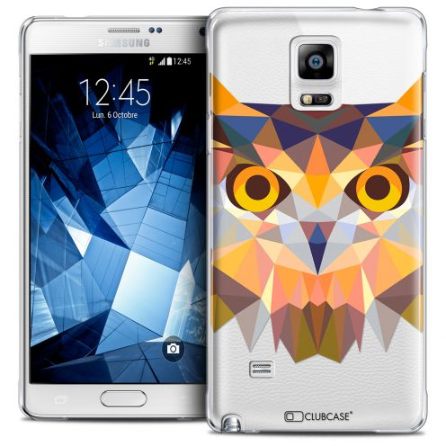 Coque Crystal Galaxy Note 4 Extra Fine Polygon Animals - Hibou