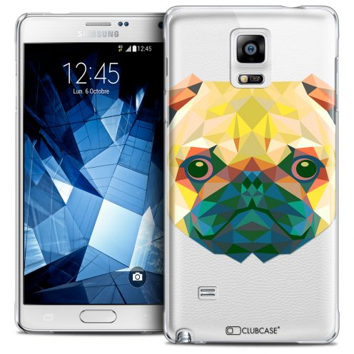 Coque Crystal Galaxy Note 4 Extra Fine Polygon Animals - Chien
