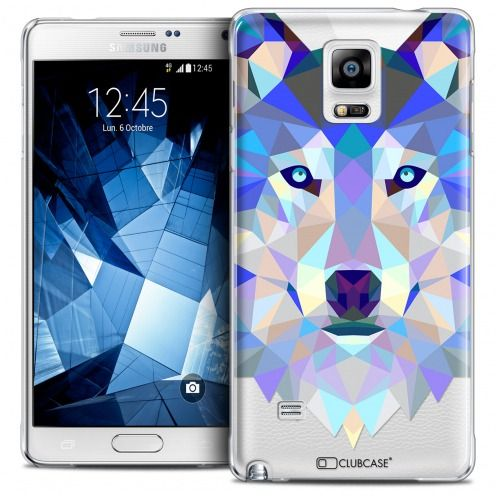 Coque Crystal Galaxy Note 4 Extra Fine Polygon Animals - Loup