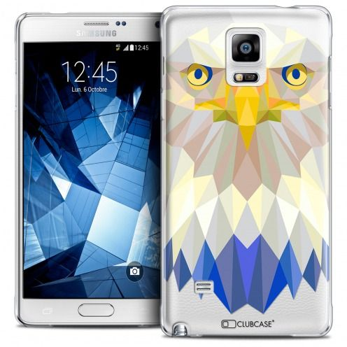 Coque Crystal Galaxy Note 4 Extra Fine Polygon Animals - Aigle