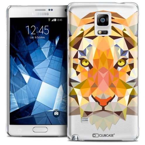 Coque Crystal Galaxy Note 4 Extra Fine Polygon Animals - Tigre