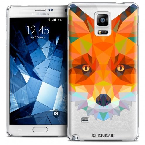 Coque Crystal Galaxy Note 4 Extra Fine Polygon Animals - Renard