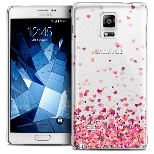 Coque Crystal Galaxy Note 4 Extra Fine Sweetie - Heart Flakes