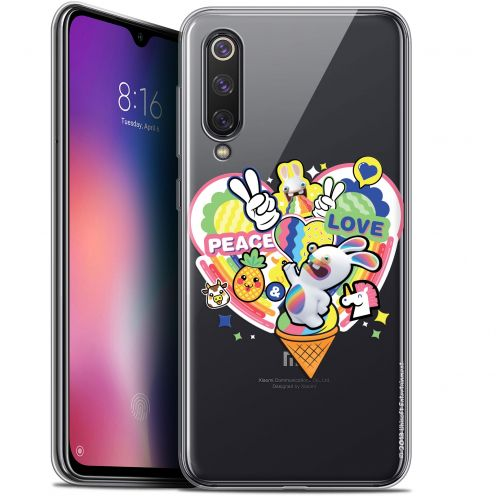 "Coque Gel Xiaomi Mi 9 SE (5.97"") Extra Fine Lapins Crétins™ - Peace And Love"