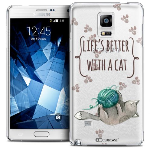 Coque Crystal Galaxy Note 4 Extra Fine Quote - Life's Better With a Cat