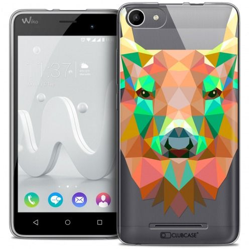 Coque Crystal Gel Wiko Jerry Extra Fine Polygon Animals - Cerf