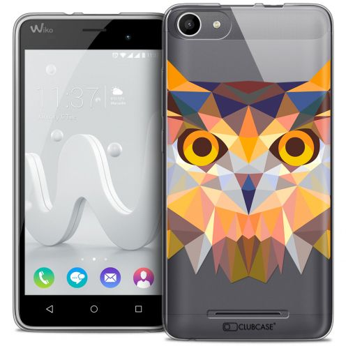 Coque Crystal Gel Wiko Jerry Extra Fine Polygon Animals - Hibou
