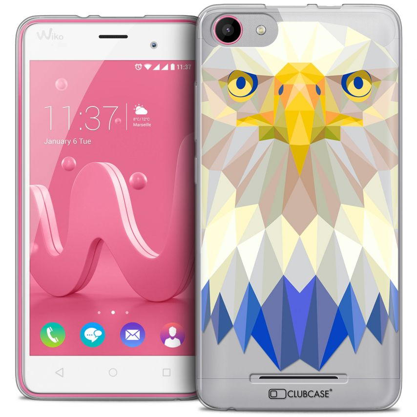 Coque Crystal Gel Wiko Jerry Extra Fine Polygon Animals - Aigle
