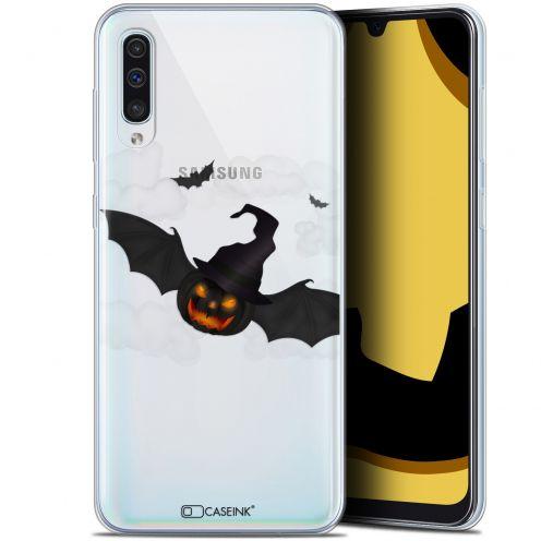 "Coque Gel Samsung Galaxy A50 (6.4"") Extra Fine Halloween - Chauve Citrouille"